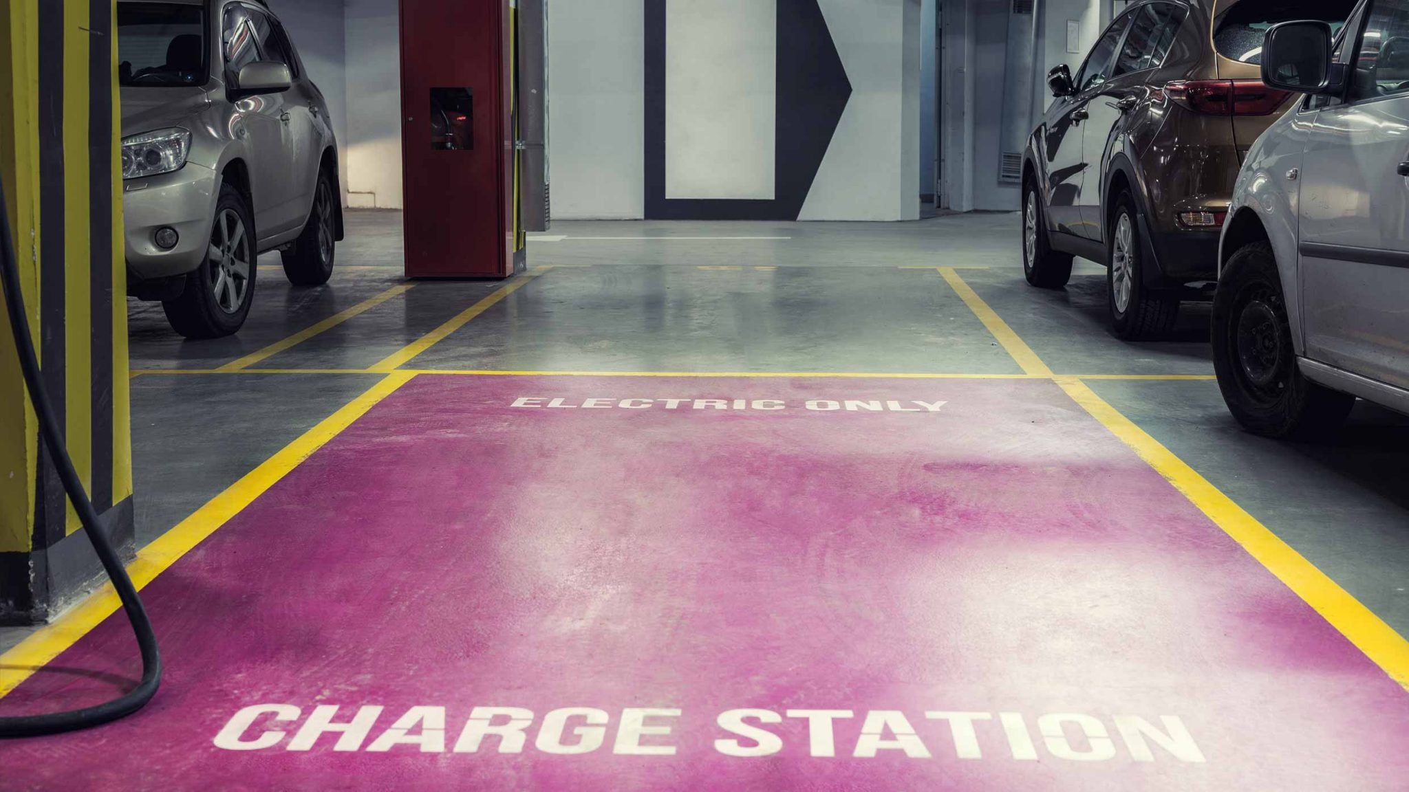 Charge Station in Underground Car Park