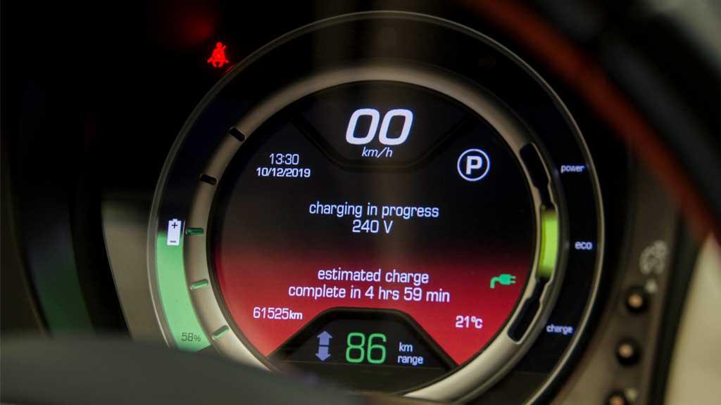 Battery Level Indicator on EV Dashboard