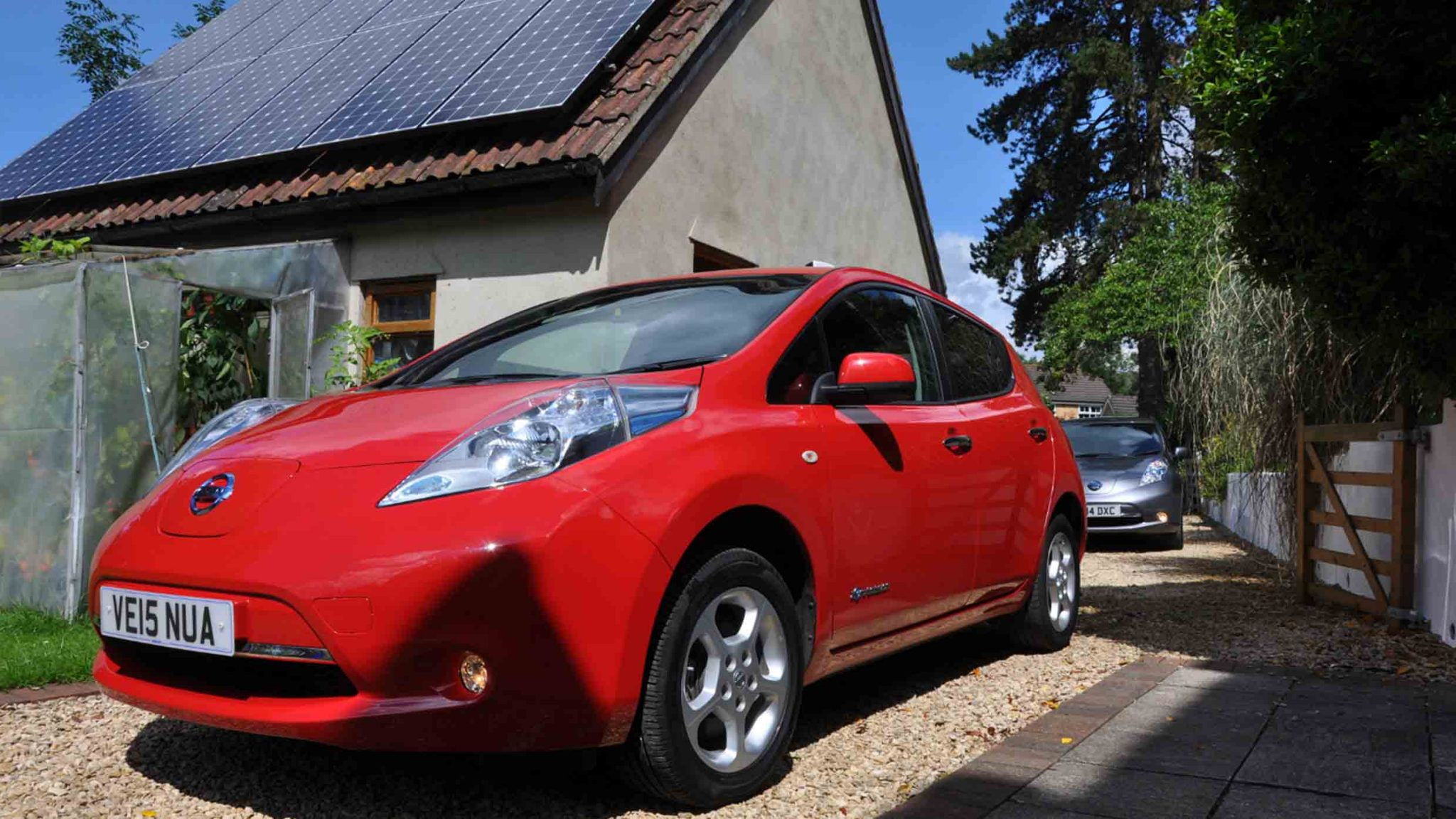 Solar Panels and Electric Vehicle