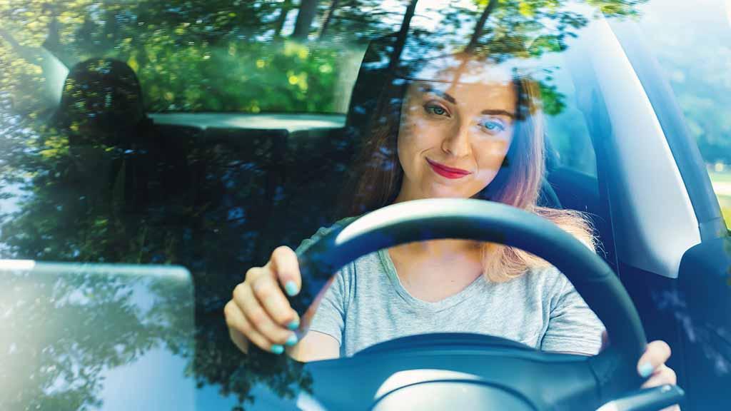 Person driving an EV