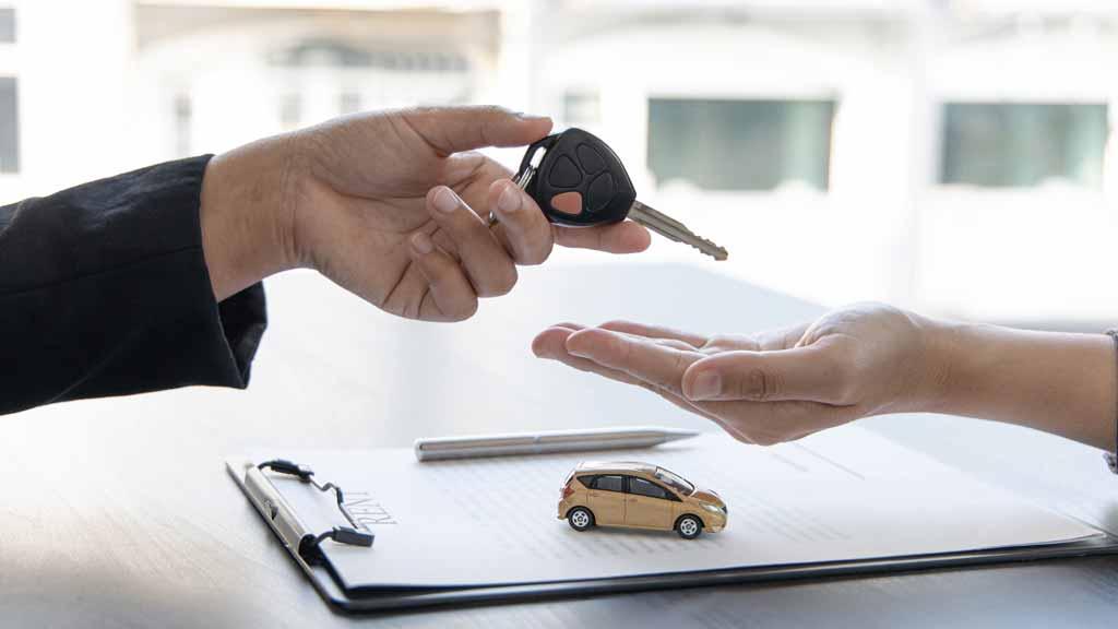 Car Keys and Finance Paperwork
